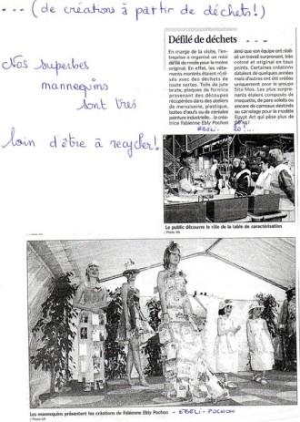 """1er challenge de créations avec des déchets : Les 6 premiers modèles et la première équipe mannequins Chakalou à porter de la """"Récup"""""""